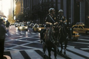 NYPD on Horses -130X89- Sold